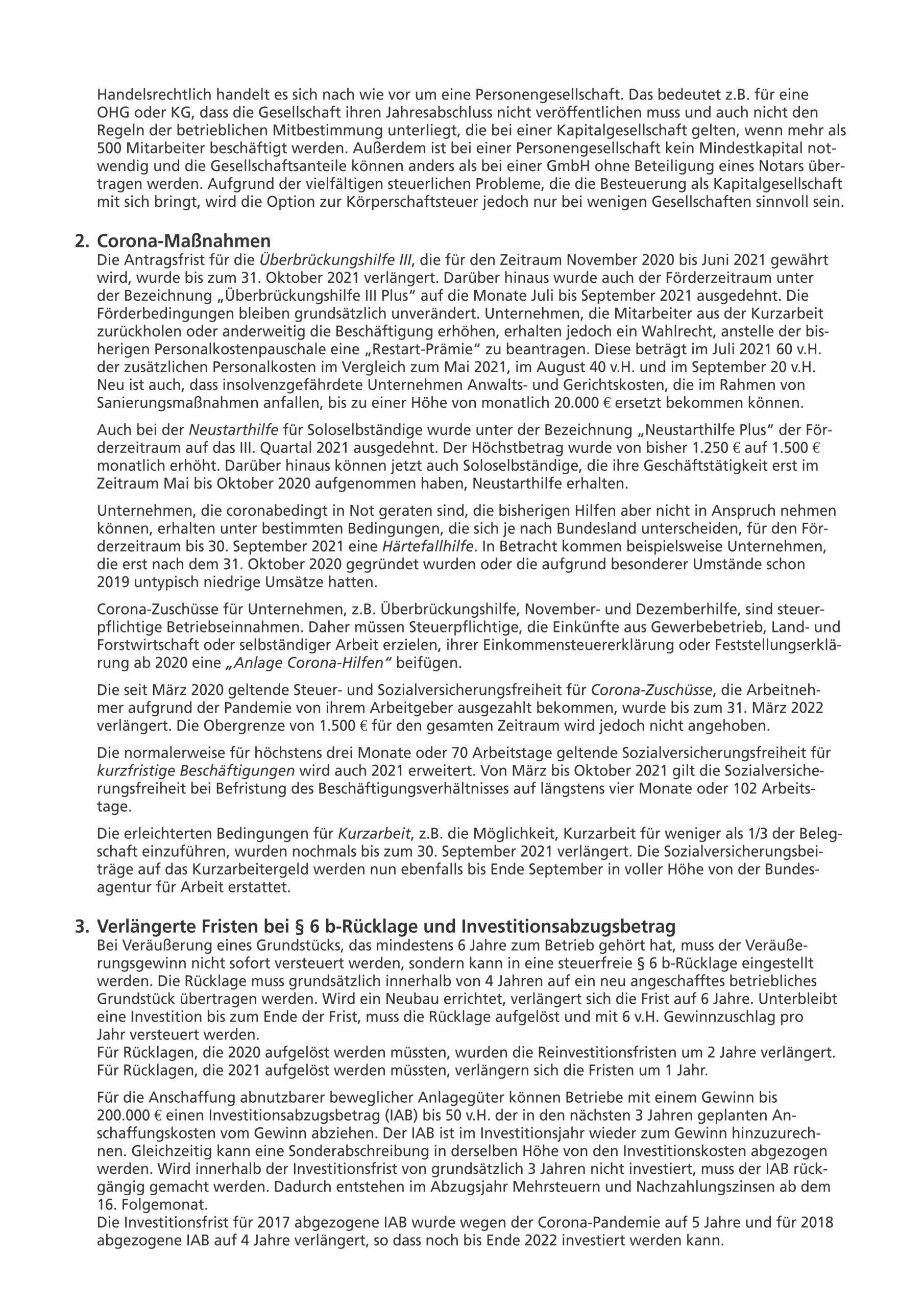 js-tax Steuerberatung Mandantenrundschreiben 2021-08 S2